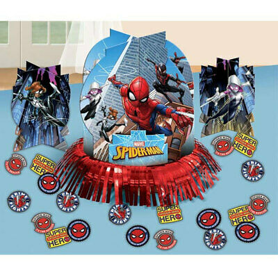 Spider-man Table Decorating Kit Birthday Party Supplies Center Piece  - Spider Man Decorations