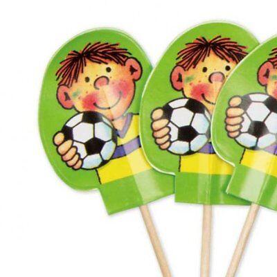 Fussball Muffin Deko Fähnchen, 20 Deko Picker für Cupcake Dekoration