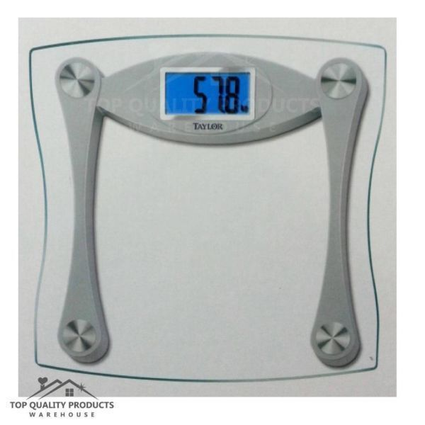 taylor digital electronic large lcd display high capacity bathroom scale weight ebay