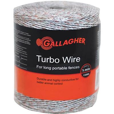 8 Pk Gallagher 18 Mile 9 Metal Strand Electric Fence Turbo Poly Wire G620564