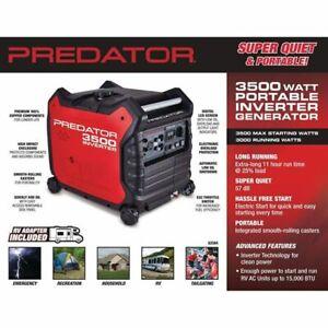 3500 Watt Super Quiet Inverter Generator - Predator - New In Box