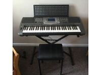 Yamaha psr1000 keyboard ,stand and seat in mint condition