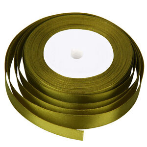 22 Metres of Satin Ribbon 15mm in Multiple Colours sold by rolls