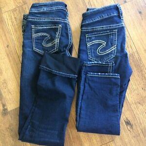 Silver Capris Jeans