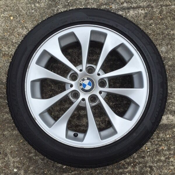 4 x bmw alloy wheels with tyres 17 205 50 r17 in. Black Bedroom Furniture Sets. Home Design Ideas