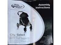 City Select Baby Jogger single and double buggy. Very good condition