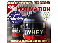 OPTIMUM NUTRITION GOLD STANDARD WHEY PROTEIN 2270g CHOCOLATE FREE SHAKER & FREE DELIVERY '