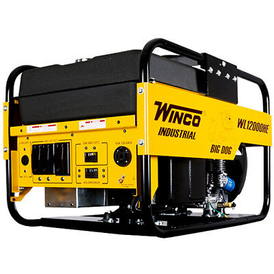 Winco Wl12000he - 10800 Watt Electric Start Portable Generator W Honda Engine