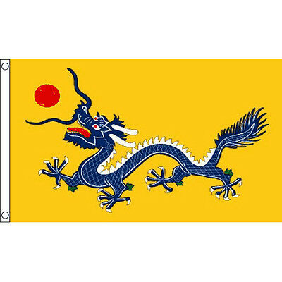Chinese Dragon Flag Large 5 x 3' - Imperial Dynasty China New Year Festival