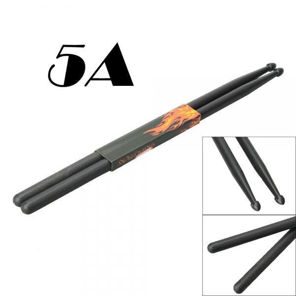 New Black New High Quality One Pair Drumstick 5A Drumsticks Nylon Drum Sticks