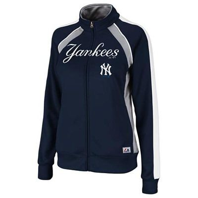 NWT Majestic New York Yankees Ladies Great Play Track Jacket - Navy Blue