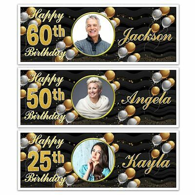 PY BIRTHDAY NAME PHOTO PARTY BANNERS 18TH 21ST 30TH 40TH  (Happy Birthday 40th)