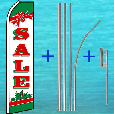 Sale Christmas Flutter Flag Pole Mount Kit Tall Feather Swooper Banner Sign