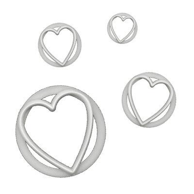 FMM Cutter Heart Set of 4 Fondant Icing Cake Stencil Shape Cutting Tool Versatil