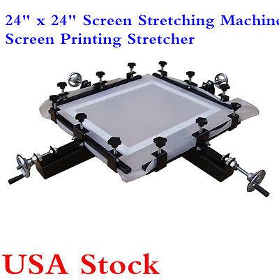 24 X 24 Manual Silk Screen Print Stretcher Screen Stretching Machine Usa Stock