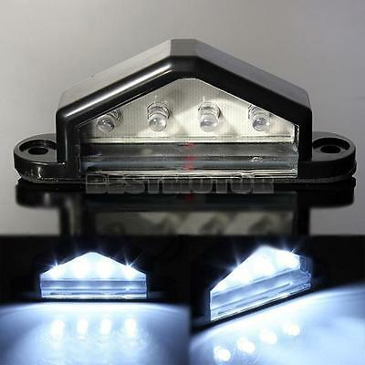 12V 4 LED LICENSE NUMBER PLATE LIGHT TAIL REAR LAMP TRUCK TRAILER LORRY VAN CAR