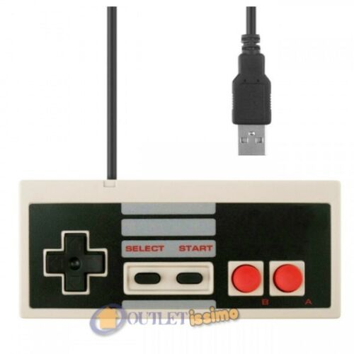 NES JOYPAD USB CLASSICO GAMEPAD MAME PER RASPBERRY MAME NINTENDO PC MAC ANDROID