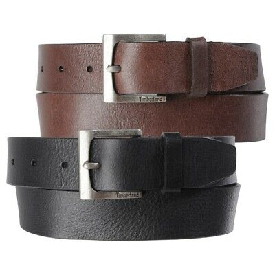 Timberland Mens 35MM Casual Belt Genuine Leather Rugged Classic Jean Belt 32-42 - Leather Jean Casual Belt