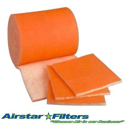 Sq Media (Orange Bonded Tackified 48 sq. ft. Media Roll Air Filter / Aquarium / HVAC (24'))