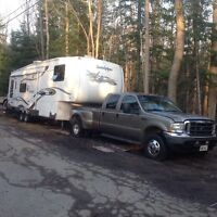 Fifth Wheel - Sandpiper  & Ford Dually Lariat Truck Package