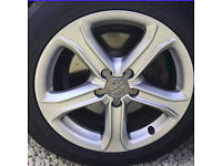 "Genuine Audi A4 17"" Alloys, fits Seat, Skoda, VW etc."