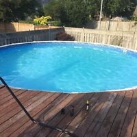 24ft above ground pool for sale