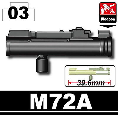 Used, M72A LAW (W139) Bazooka Rocket Launcher compatible w/toy brick minifigures Army for sale  Atlanta