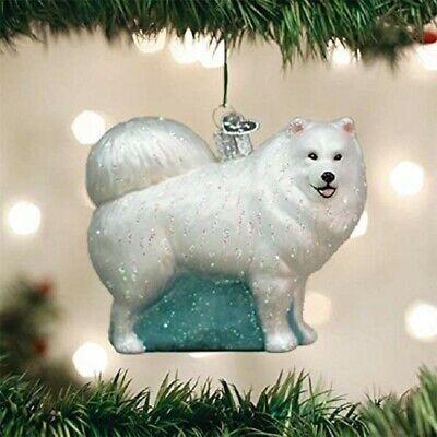 Old World Christmas 12567 Glass Blown Samoyed Ornament