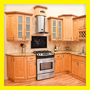 Richmond All Wood Kitchen Cabinets Honey Stained Maple