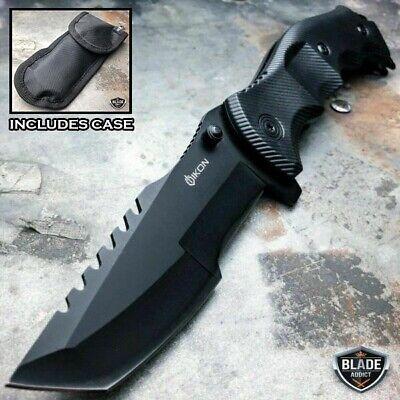 TACTICAL Spring Assisted Open Pocket Knife CLEAVER RAZOR FOLDING Blade Black NEW Black Tactical Pocket Knife