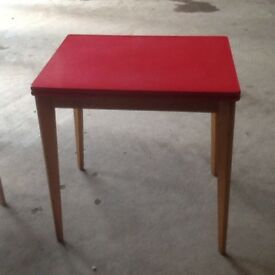 Retro dining table and 4 chairs