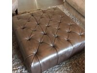 Black Leather foot stool (poofy) £25 ono