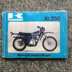 1978 Kawasaki KL250 Owners Manual Regina Regina Area image 1