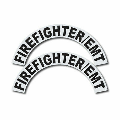3m Reflective Firerescueems Helmet Crescents Decal Set - Firefighteremt