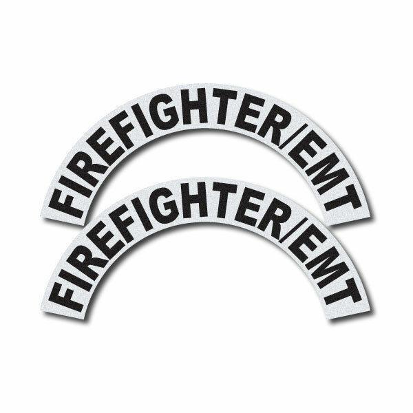 3M Reflective Fire/Rescue/EMS Helmet Crescents Decal set - Firefighter/EMT