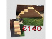 Horse mounting blocks and steps