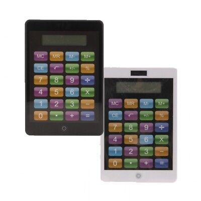 Taschenrechner Smartphone-Optik schwarz weiß Schulrechner Rechner NEU (Taschenrechner Spielzeug)