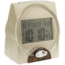 Self Setting Atomic Talking Calendar Clock w/ Time, Date and Alarm for the Blind