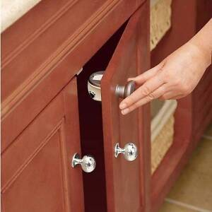 magnetic cupboard drawer lock latch baby child home safety. Black Bedroom Furniture Sets. Home Design Ideas