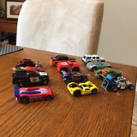 12 Hotwheels and Matchbox cars