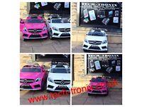 Mercedes A45 AMG 12v Black, Red, Pink, White Parental Remote Control Self Drive