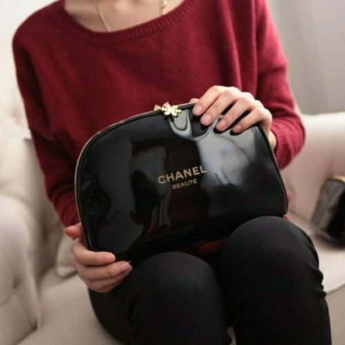"""CHANEL Beauty Maquillage Makeup Trousse Bag Pouch Clutch """" Large Size """"POST FREE"""