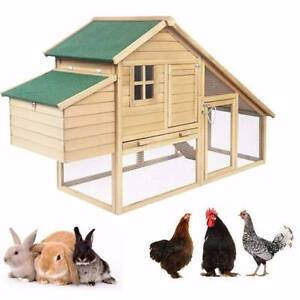 Double Storey Chicken Coop Rabbit Hutch Fir Wood - FREE SHIPPING Kardinya Melville Area Preview