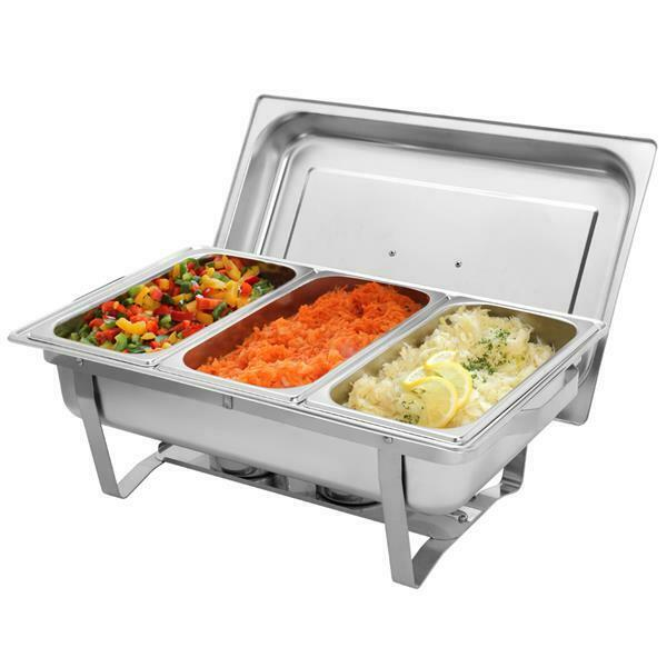 ZOKOP 3 Plate Chafing Dish Tray Buffet Stove Caterer Food Warmer Stainless Steel