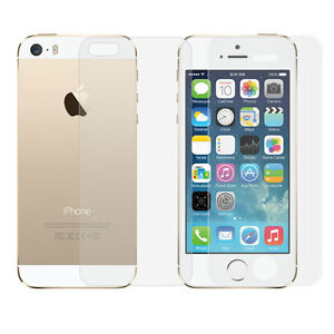 IPHONE 5, 5S, 6 & 6 PLUS CLEAR SCREEN PROTECTOR FOR FRONT & BACK