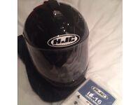 As new HJC IS -16 motorcycle helmet - small adult (female owner)