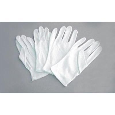 Cotton White Gloves, 12 Pairs, Large (9), Health Music Canvas Beauty Work Liner