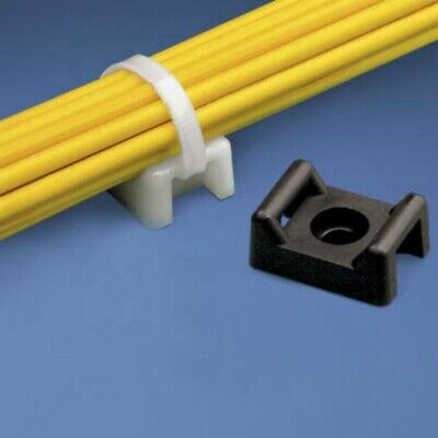 Cable Tie Mount 22mm White 100pk