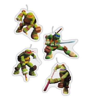 Teenage Mutant Ninja Turtles 4er Packung Geburtstagskuchen Party Miniatur Kerzen (Kerzen Turtle Ninja)