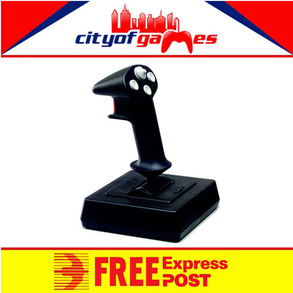 CH Products Flightstick Pro Joystick 4-Button 4-Way Hat and Throttle